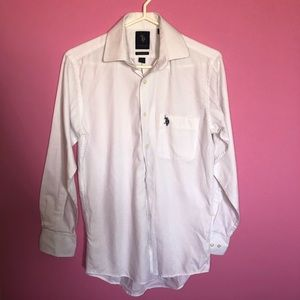 US Polo Assn White Dress Shirt
